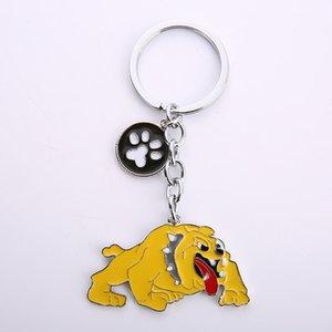 Catena Nuova Diy Bully Cani Jewelry Key Portachiavi Cani Donne Borsa Keychain di fascino Dog Piedi Modifiche del regalo Stampe Pendant