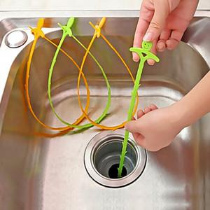 51cm Küche Waschbecken Rohr Abflussreiniger Pipeline Haarreinigung Entfernen Dusche Toilette Kanalisation Clog Langer Kunststoffhaken DBC BH3669