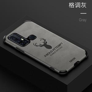 Cas de téléphone mobile pour OPPO A11X reno reno3 Realme x50 findx2 TPU + Housse en cuir de protection Elk Creative