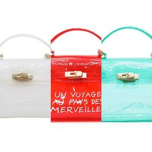 Transparent female 2019 fashionable all-match jelly ulzzang messenger female mini hand handbag Hand bag