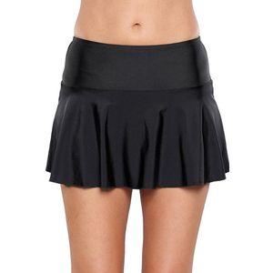 Pa Meng One Piece Bikini Médio cintura Projeto Mint rugas saia com babados Pendulum Plus-sized Calção Saia 410780
