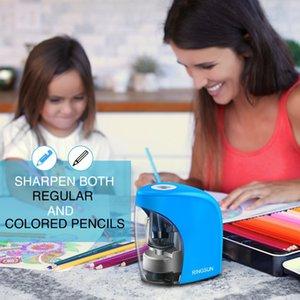École Crayon Auto électrique Sharpener Sharpener Papeterie pour No.2 (8 mm) Crayons et crayons de couleur batterie / USB Charge
