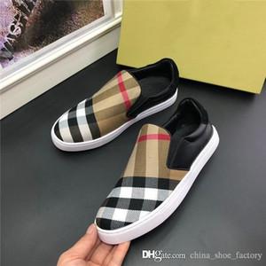 Последние мужчины повседневная обувь, классический клетчатые низкие вершины для мужчин Стильные и дышащий на открытом воздухе путешествие плоское основание кроссовки Размер 38-44