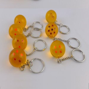 Anime Goku Dragon Ball Super Keychain 3D 1-7 Stars Cosplay Crystal Ball Key chain Collection Figures Toy Gift key Ring Car Gifts Accessories