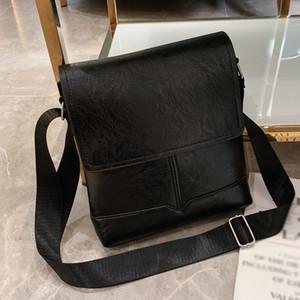 Ocardian Handbag New Fashion Mens Business Diagonal Cross Bag Briefcase Solid Color Classic Leather Shoulder Bag Dropship A30
