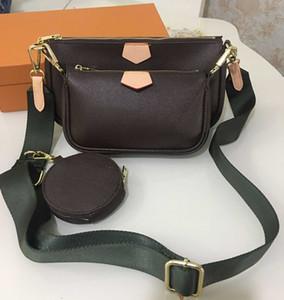 Fábrica Whlosale Mulheres Moda Bolsas bolsas 3pcs / set acessórios saco crossbody 3colors sacos de ombro vintag carteira cintas