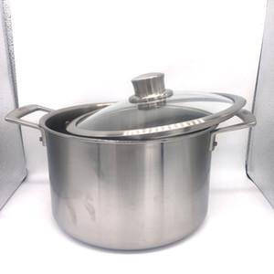 22 * 14cm / 26 * 17cm Olla de sopa de titanio ultraligera olla de leche de titanio para acampar antiadherente con tapa de vidrio Utensilios de cocina de titanio puro para cocinar