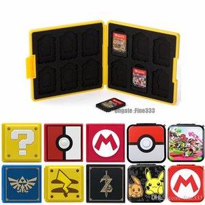 12 en 1 Nin commutateur anti-choc Cartes Game Case Hard Shell NS Commutateur Box pour Nitend Jeux Accessoires de stockage Commutateur