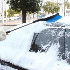 Toptan Buz Kar Kürek Fırça Arabalar için Uzun Geri Çekilebilir Kolu Teleskopik Araba Kar Kazıyıcı Temizleme geri çekilebilir kar shovelr30