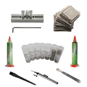 BGA Reballing stencils aquecimento directamente gabarito estação BGA solda bola raspador fluxo caneta vácuo para reparação retrabalho