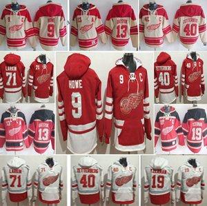 Detroit Red Wings Hoodie 9 Gordie Howe 19 Steve Yzerman 13 Pavel Datsyuk 8 Justin Abdelkader 71 Dylan Larkin 40 Henrik Zetterberg Jersey
