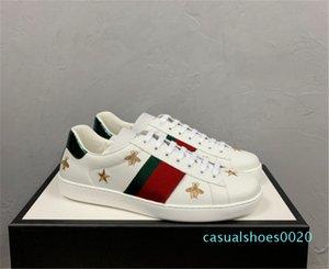 Trendy Designer Luxo Homens Mulheres Sneakers design atraente ACE Bordado Abelha Tiger principal da serpente Cão Fruit unisex casuais Trainers planas