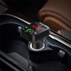 El más reciente B2 transmisor de FM multifunción inalámbrico Bluetooth USB de coche Mini MP3 Player Car kit del sostenedor de tarjetas TF auricular manos libres modulador