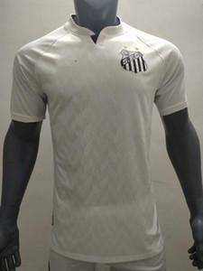 Yüksek kaliteli 2020 2021 Santos ev beyaz futbol forması SOTELDO Eduardo Sacha Carlos Sanchez forma