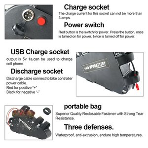 Batterie E-Bike Triangolo batteria 48V 31.5Ah 1512Wh 20Ah 15Ah Samsung cellulare Bicicletta elettrica con l'USB per 1800W 1000W 500W Motore