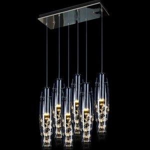 3 kafaları Modern Kısa Zarif 15 W LED Kristal Avizeler Plaka Davul Işık Ücretsiz Kargo Avize Aydınlatma Ücretsiz nakliye
