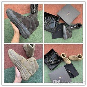 ssYEzZYYEzZYs v2 350boost Kanye West Boots New Season 6 Desert Rat Boot 6s Graphite black military Style Chunky Men Seankers
