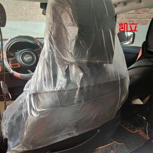 Großhandel Auto Stühle Sleeve Kunststoff klares Design Einwegautositze Cover schützender Selbstsitz Sleeve-Staub-Beweis 0 29kl E19