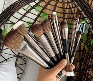 Free shipping! Brushed series loose powder foundation brush blush repair brush residual powder brusher eye shadow professional beauty