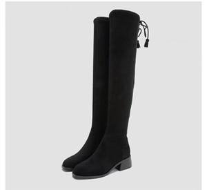 camurça LOWLAND BOOT botas de inverno over-knee SW5050 em botas de inverno com saltos grossos e botas elásticas clássicas finas