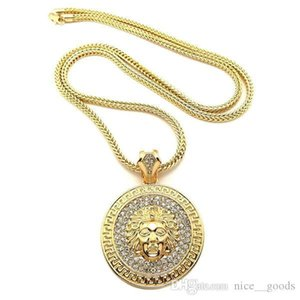 Luxury Medusa Designer Necklace Jewelry Diamond Hip Hop Men Pendant Necklaces Iced Out Avatar Necklace Gold Silver Chains Time-limited