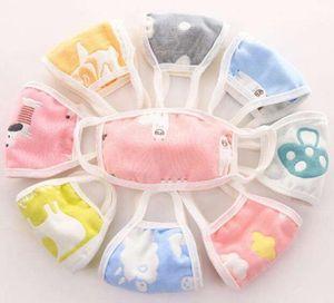 Bebé Adulto anti-polvere maschera 6 strati che lavano maschere di garza bocca cartone animato faccia antivento caldi maschere unisex traspirante Mask Designer GGA3208