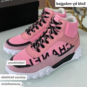 Newest Mesh And Lycra Suede Calfskin Sneaker Mens High Tops Lace Shoes Selling Womens Real Leather Sport Boot Sneskers