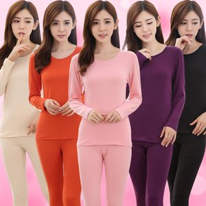 Yuzhenli Termal İç Giyim Yuvarlak Yaka Uzun Johns Modal Kadın İç Seti Artı boyutu XXL Bayanlar Pijama Takımı Isınma Womens