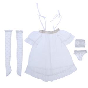 1/3 BJD Puppe Kleidung Set, Prinzessin Kleid, Unterwäsche Strümpfe Outfit für SD als DZ Kugel zusammengefasst Puppen Kleidung, Mode Puppen Pretend Play