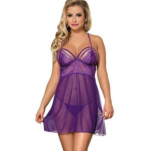RI80300 Comeonlover Robe De Chambre Femmes Abito da notte a maniche lunghe Purple Springtime Nachtkleding Vrouwen G string Camicia da notte Donne