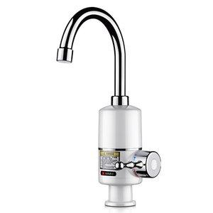 KBAYBO Tankless Anında Musluk Su Isıtıcı Banyo / Mutfak 3000W Şofben dokunun Sıcak Su Isıtma LED Dijital T200424