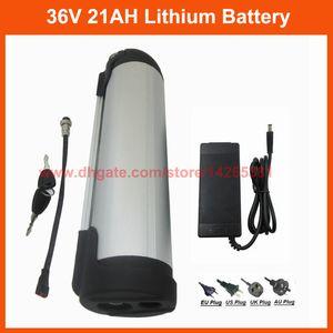 Ricaricabile 500W 36V 20AH acqua pacco batteria della bottiglia 36V 21ah bicicletta elettrica cellule 3500mah batteria al litio con 15A BMS 42V 2A Caricatore