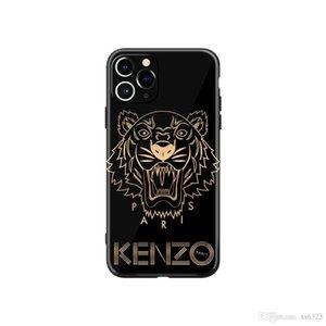 2020 디자인 호랑이 머리 검은 색과 흰색 전화 케이스 아이폰 X S R 7/8 플러스 11 12 프로 MAX에 적합합니다.