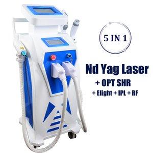 Máquina de depilación rápida OPT 2019 Tratamiento con láser IPL 2000MJ Eliminación de tatuajes con láser Ndyag Equipo láser de rejuvenecimiento de la piel Elight RF