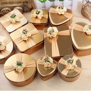 Metall-Süßigkeit-Kästen Tee kann Geschenk-Kasten Große kreative Herz Rund geformte Hochzeits-Geschenk-Box Tinplate für Baby Shower