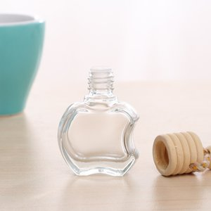 8ml Apple Shaped Glass Perfume Bottles with Rope Car Hanging Essential Oil Air Freshener Diffusers Wholesale