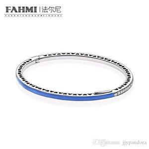 FAHMI 100% de plata esterlina 925 1: 1 pulsera básico original auténtico encanto 590537EN82 adecuados joyería de bricolaje con cuentas Mujeres