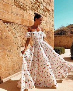 Yeni kadın elbise seksi straplez tüp üst elbiseler uzun etek baskılı dresse çiçek elbise casual tasarımcı seyahat dresse podyum parti elbise