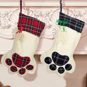 Faroot Weihnachtsgeschenk-Taschen-Haustier-Strumpf-Weihnachtsbaumschmuck-Neujahrsgeschenk-Halter-Dekor