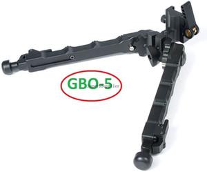 5 QD Bipod nero tattico Bipods 7.25-9 pollici staccabile rapido regolabile piatto nero opaco
