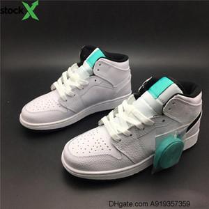 2020 Mint Green White Women zapatos de baloncesto 1s Diseñador de moda de interior  Outdoor Athletic Sport Sneaker Tamaño 36-40