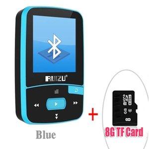Original RUIZU X50 Sport Bluetooth MP3 Player 8gb Clip Mini with Screen Support FM,Recording,E-Book,Clock,Pedometer