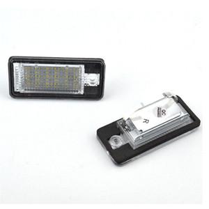 오디 A3 A4 S4 RS4 B6 B7 A6 A5 C6 RS6 S6 S5 2D Cabrio가 Q7 A8 S8 RS4 전위 1 세트 CANBUS LED 번호판 빛 번호판 램프