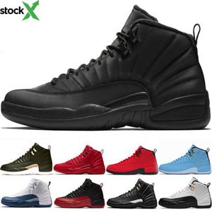 Мужская Джордон баскетбол обувь XII 12 Мужчины 12s Новый Полуночный черный грипп игры Мичиган такси UNY утепление Тренер Спорт Sneaker Дешевые