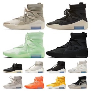 ayakkabı Nike Air Fear Of God 1 Basketbol ayakkabıları SIZE US 12 Buzlu Ladin Açık Havada Çizmeler Womens Siyah Spor Sneakers Eğitmenler Koşu ayakkabısı EUR 46