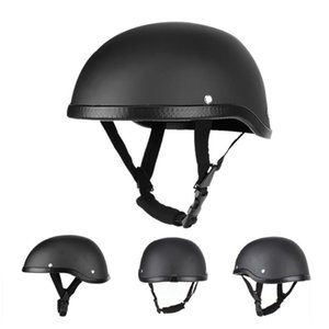 Yüksek Kalite Motosiklet Kaskı Kafatası Cap Vintage Yarım Yüz Kask Scooter Motosiklet Moto Bike Motosiklet Aksesuarları Siyah