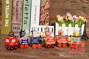 Madera de tren Modelo Juguetes, estilo de dibujos animados Pan Superman, magnético Juguetes para la Educación, para los regalos del partido Kid 'cumpleaños', recogida, hogar Decoración