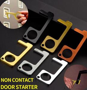 Kapı Closer Temassız Kapı Açıcı anahtar Halka Aracı Kapı Ve Asansör Düğme Karşıtı temas I Kolay için Temiz EDC Anahtarlık KKA7806