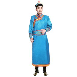 Nouveau mode Mongol robe pour hommes festival Stade performance Wear living robe Asie costume classique ethnique vêtements