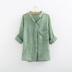 Womens Stylist T Shirt Elegant Cotton Linen Lady Clothing Fashion Slim Woman Temperament Pure Color Hot Causal Shirt Women Tops Blouses